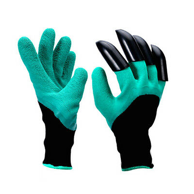2x Garden Genie Gloves Fingertips Dig Plant Rose Pruning Right Hand Claw Best