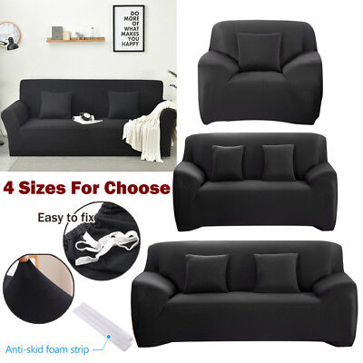 1/2/3/4-Seater Couch Stretch Sofa Seat Lounge Protector Cover Removable Washable