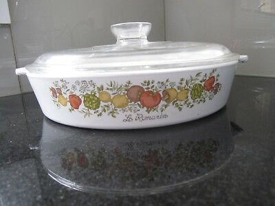 """Vintage Corningware """"spice of life"""" frying pan/quiche dish"""