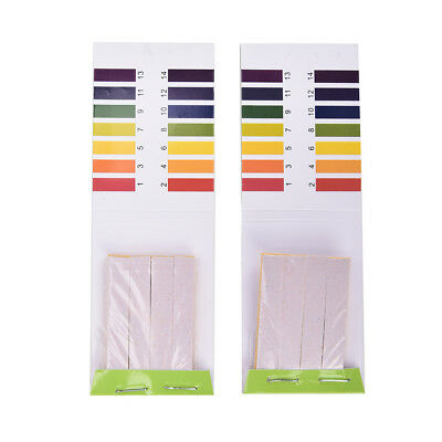 2X 80 Strips PH Test Strip Aquarium Pond Water Testing Test Paper Litmus Test ~