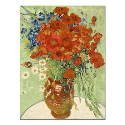 Canvas Print Picture Wall Art Van Gogh Painting Repro Home Decor Red Poppies
