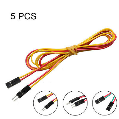 5 Pcs 70cm/100cm 2 Pin Female to Female/Male to Male Jumper Wire Dupont Cable