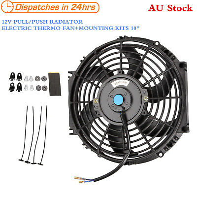 10 inch 12V PULL/PUSH RADIATOR ELECTRIC THERMO FAN MOUNTING KITS Universal