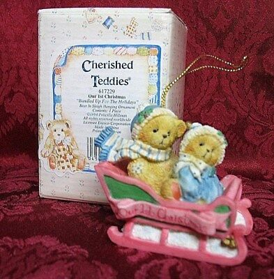 Cherished Teddies Dated 1994 Ornament~Our First Christmas