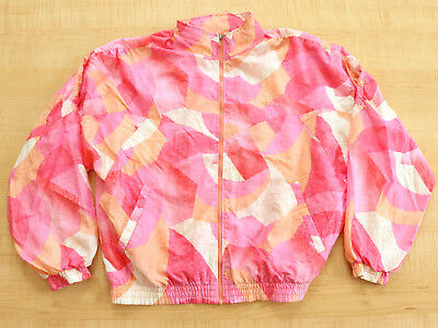 Vintage 1980's Fila All Over Print Windbreaker Track Jacket Sz.l! Made In Italy