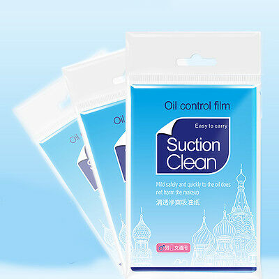 100Pcs Blotting Paper Oil Control Films Face Clear Skin Care Cleaning Tool New