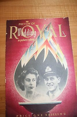 """ROYAL WEDDING SOUVENIR: """"Preview of the Royal Wedding in Picture and Story""""1947"""