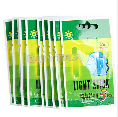 50 Pcs Night Fluorescent Float Lightstick Glow Stick for Fishing -US