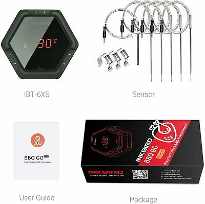 SIX probes INKBIRD Digital Bluetooth Wireless Cooking thermometer Meat BBQ Grill