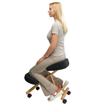Ergonomic Orthopaedic Posture Kneeling Chair Stool Frame Seat Health Care Wooden