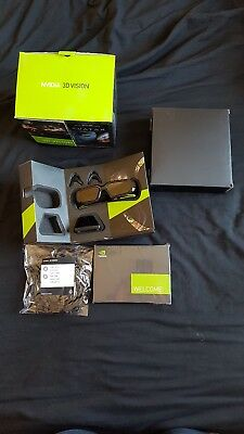 Boxed Brand New NVIDIA 3D vision Glasses Kit + IR Unit Wireless Emitter