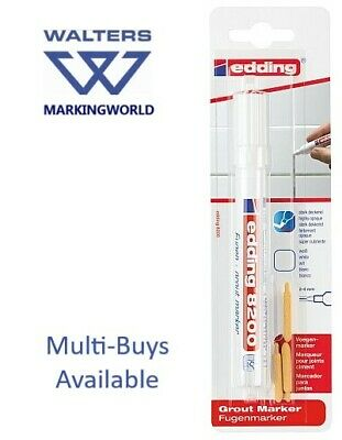 Edding 8200 White Grout Marker Pen for Kitchen Bathroom Tiles with Fungicide