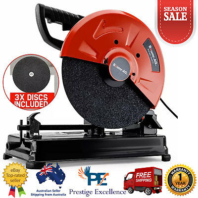 355MM Metal Cut Off Drop Saw 3000W Commercial Grade Replacement Cutting Disc NEW