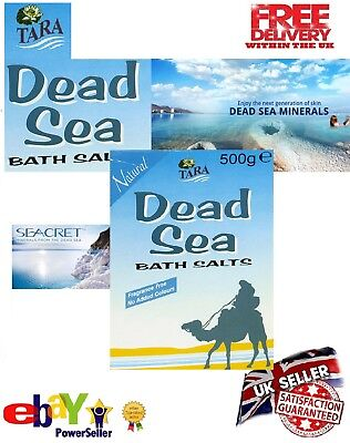 NATURAL DEAD SEA BATH SALTS 500G  RICH IN MINERALS Good for Eczema and Psoriasis