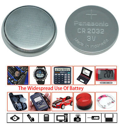 5x SUPER FRESH CR2032 Li-ion Battery 3V Coin Button Cell for Panasonic Genuine
