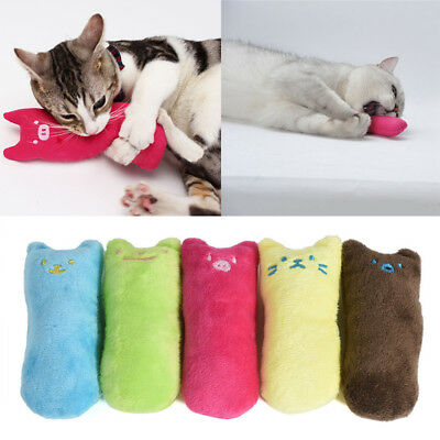 Interactive Pillow Scratch Crazy Pet Cat Kicker Catnip Teeth Claw Grinding Toy