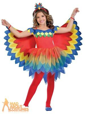 Child Pretty Parrot Fairy Costume Tutu Animal Girls Fancy Dress Outfit Kids