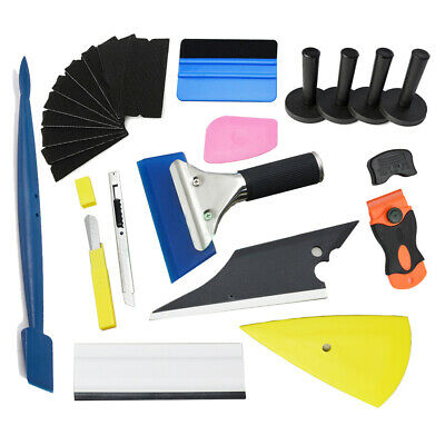Car Vinyl Tools Sticker Kit Squeegee Wrap 4 Magnets Cutter Blades Window Tint UK
