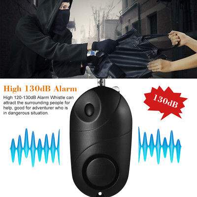 130dB Safe sound Personal Alarm Self-defense Keychain Emergency Anti-rape EG5