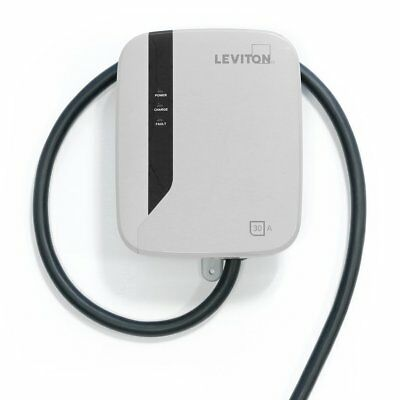 Leviton EVR30-B18 Evr-Green E30 Charging Station, 30A, 208-240Vac, 7.2Kw Output