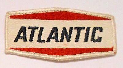 """Atlantic Gasoline Patch Embroidered Oil 3-7/8"""" inches Original Vintage"""