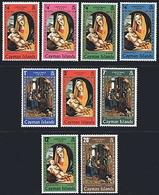 Cayman Islands 1969 Christmas set of 9 Mint Unhinged