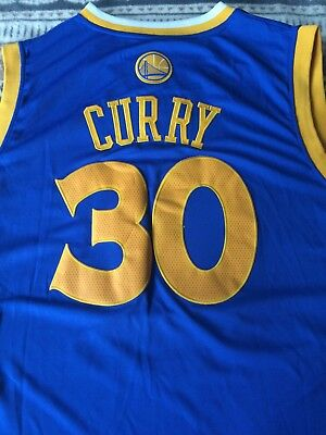 ADIDAS STEPH CURRY  30 Swingman Jersey Men s Large Golden State ... cb1def60f