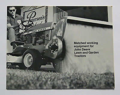 1972 John Deere 70 110 112 140 Lawn Tractor Matched Working Equipment Brochure