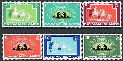 Cayman Islands 1970 Christmas set of 6 Mint Unhinged