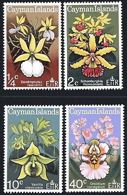 Cayman Islands 1971 Orchids set of 4 Mint Unhinged