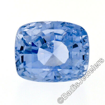 Vintage AGL Certified 14.86ct Natural No Heat Ceylon Cushion Cut Blue Sapphire