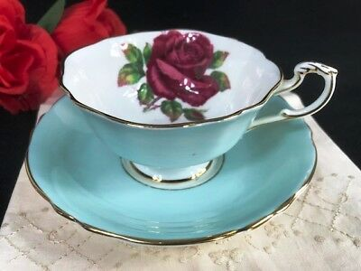 1950s Paragon Johnson Large Red Rose Cup and Damaged Saucer