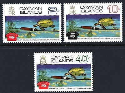 Cayman Islands 1972 Co-Axial Telephone Cable set of 3 Mint Unhinged
