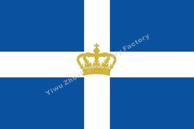 Greece Kingdom Flag 1935 3X2FT 5X3FT 6X4FT 8X5FT 10X6FT 100D Polyester