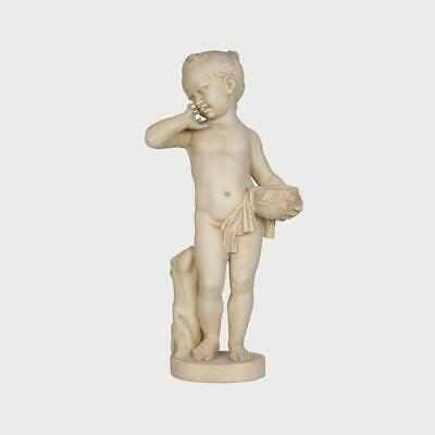 Original sculpture Neoclassical French anonymous Girl with basket.