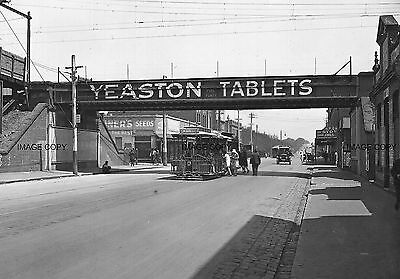 Victoria St, Richmond Tram Pre 1930 YEASTON TABLETS SIGN , Melbourne Australia