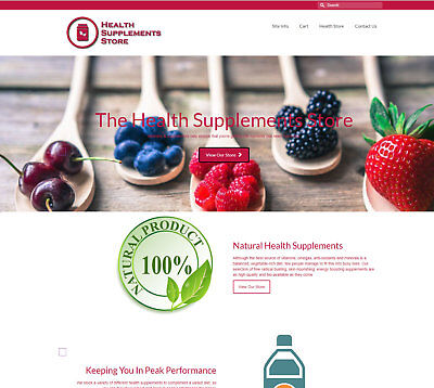 Fully Stocked Health Supplements business - FREE Domain/Hosting.  £40 per sale!