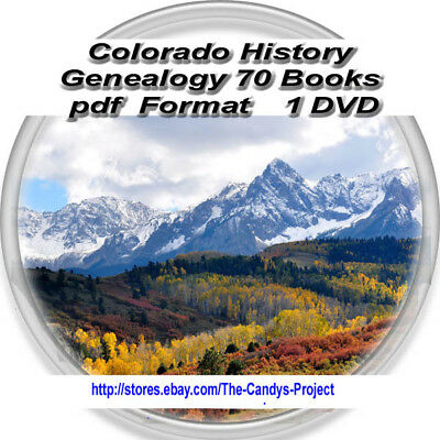 84 books Pdf Colorado History Genealogy Vintage Rare DVD