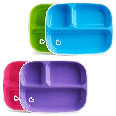 Munchkin Splash Divided Plates (2 Pack, Colours May Vary)