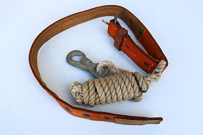 Klein Buhrke Linesman Climbing Belt Classic Vintage Safety Tree Cosplay Steam