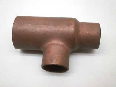 "Copper Pipe Reducing Slip Tee Fitting 3/4"" x 1/2"" x 1/2"" , C x C x C"