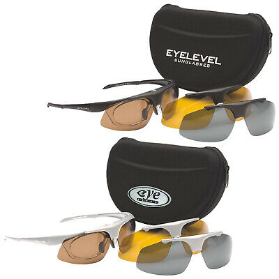 54ee790a008 Eyelevel Challenger Polarised Shooting Safety Glasses -3 Lenses UV400  Protection