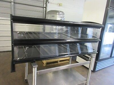 "Hatco 60"" Dual Shelf Heated Hot Food Pass Thru Zone Merchandiser HZMH-60D"