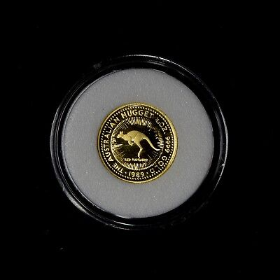 1989 1/10 Australia Proof Gold Nugget Low Mintage Coin In Cap