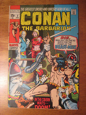 CONAN THE BARBARIAN #2, 1970 (VF-) **Super-Bright & Glossy!**