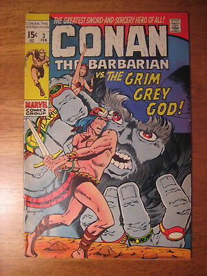 CONAN THE BARBARIAN #3, 1970 (VF-) **Super-Bright & Glossy!**