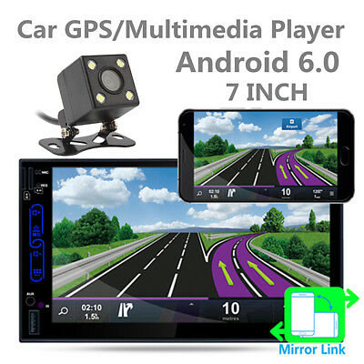 """Universal 2 DIN Car Player 7"""" HD Android 6.0 WiFi GPS Bluetooth RDS 16GB ROM"""