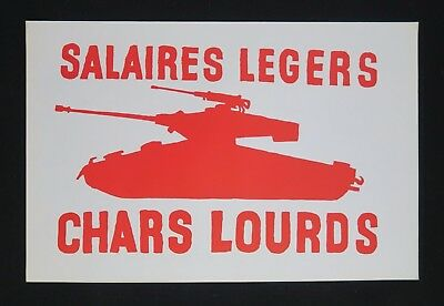 Affiche mai 68 SALAIRES LÉGERS / CHARS LOURDS french poster 1968