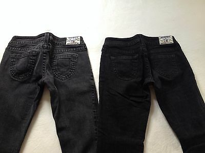 True Religion Women's Skinny & Skinny Crop Black & Gray Jeans Size 28 L32 2 Pair