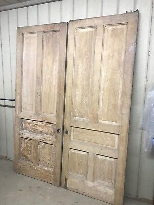 Antique Solid Wooden Pocket Doors, Pair, appx 94 inches tall by 36 wide each
